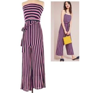 Anthropologie Maeve Daydream Striped Jumpsuit